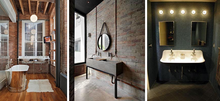 4 big trends in bath decor 2016 2017 taymor for Industrial bathroom ideas
